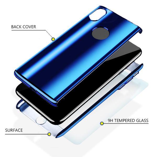 NALIA 360 Grad Handyhülle kompatibel mit Apple iPhone X XS, Full-Cover & Schutzglas vorne hinten Hülle Doppel-Schutz Dünn Ganzkörper Case Etui Handy-Tasche, Bumper & Displayschutz – Bild 13