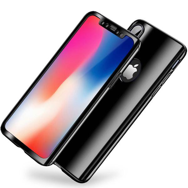 NALIA 360 Grad Handyhülle kompatibel mit Apple iPhone X XS, Full-Cover & Schutzglas vorne hinten Hülle Doppel-Schutz Dünn Ganzkörper Case Etui Handy-Tasche, Bumper & Displayschutz – Bild 4