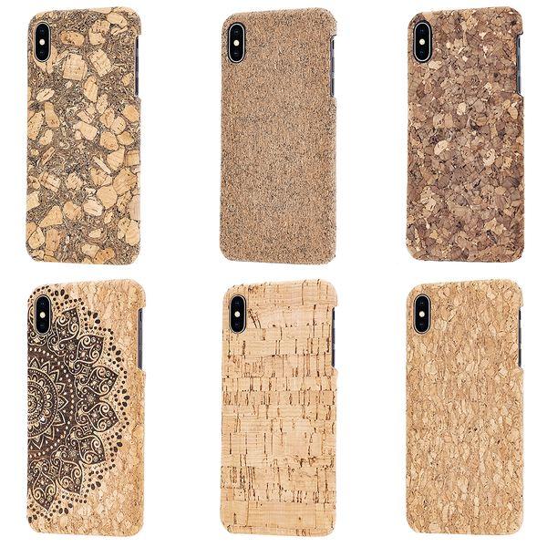 NALIA Kork Hülle kompatibel mit iPhone XS Max, Handyhülle Natur-Holz Look Handy-Tasche Cover Case, Dünnes Ultra-Slim Hardcase Schutzhülle Etui Backcover Bumper – Bild 1