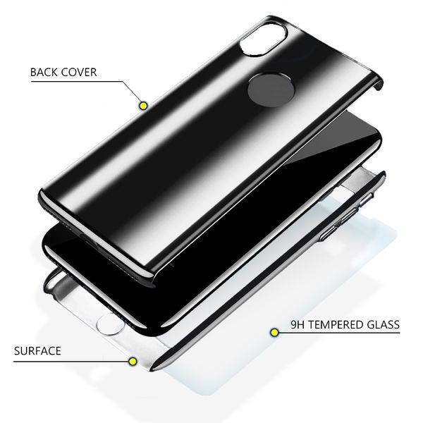 NALIA 360 Grad Handyhülle kompatibel mit Apple iPhone XR, Full-Cover & Schutzglas vorne hinten Hülle Doppel-Schutz, Dünn Ganzkörper Case Etui Handy-Tasche Bumper & Displayschutz – Bild 6