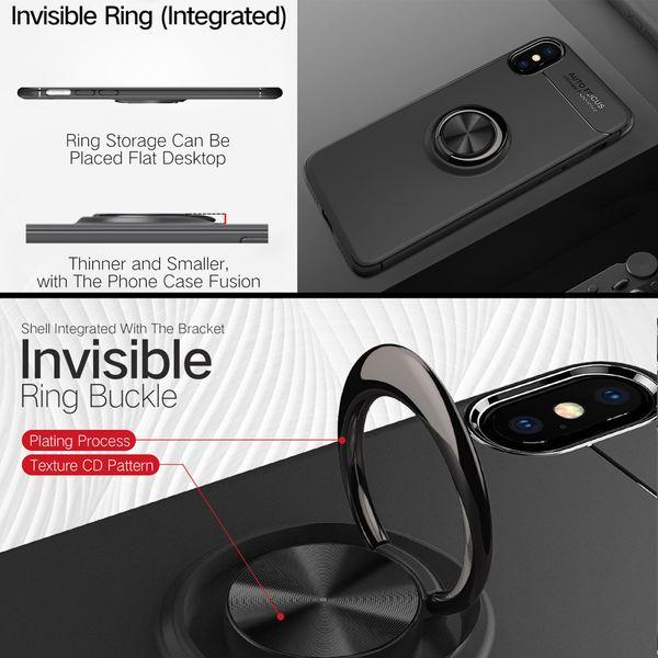 NALIA Ring Hülle kompatibel mit iPhone XS Max, Schutzhülle Cover magnetische Silikon Handyhülle für KFZ-Halterung 360-Grad Finger-Halter Case Dünn Ständer Slim Etui Bumper – Bild 6