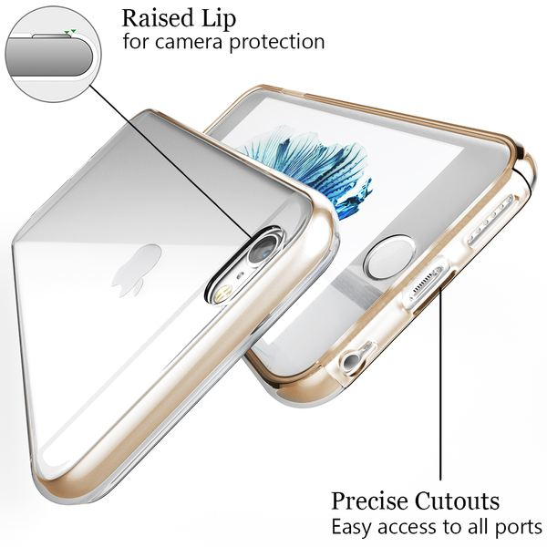 NALIA 360 Grad Handyhülle kompatibel mit Apple iPhone 6 6S, Full-Cover Silikon Bumper mit Displayschutz vorne Hardcase hinten, Hülle Doppel-Schutz Dünn Ganzkörper Case Handy-Tasche – Bild 16