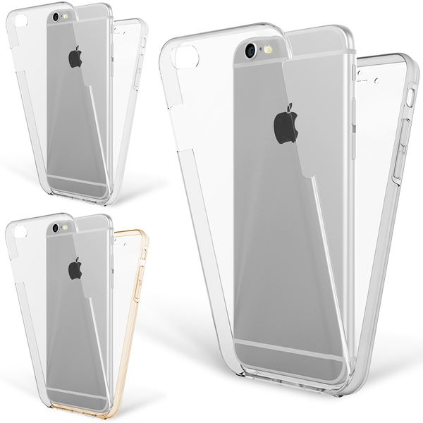 NALIA 360 Grad Handyhülle kompatibel mit Apple iPhone 6 6S, Full-Cover Silikon Bumper mit Displayschutz vorne Hardcase hinten, Hülle Doppel-Schutz Dünn Ganzkörper Case Handy-Tasche – Bild 1