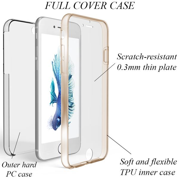 NALIA 360 Grad Handyhülle kompatibel mit Apple iPhone 6 6S, Full-Cover Silikon Bumper mit Displayschutz vorne Hardcase hinten, Hülle Doppel-Schutz Dünn Ganzkörper Case Handy-Tasche – Bild 15