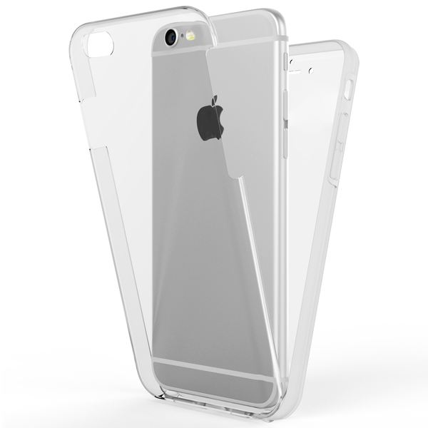 NALIA 360 Grad Handyhülle kompatibel mit Apple iPhone 6 Plus 6S Plus, Full-Cover Silikon Bumper mit Displayschutz vorne Hardcase hinten, Hülle Doppel-Schutz Dünn Case Handy-Tasche – Bild 2