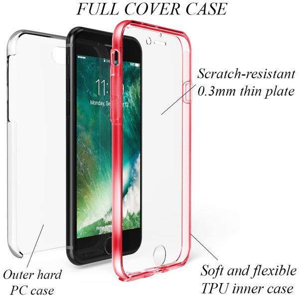 NALIA 360 Grad Handyhülle kompatibel mit Apple iPhone 8 / 7, Full-Cover Silikon Bumper mit Displayschutz vorne Hardcase hinten Hülle Doppel-Schutz Dünn Ganzkörper Case Handy-Tasche – Bild 18
