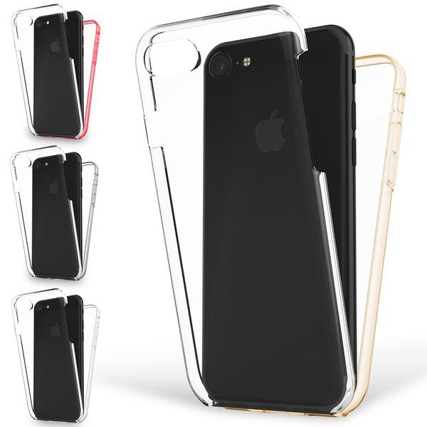 NALIA 360 Grad Handyhülle kompatibel mit Apple iPhone 8 / 7, Full-Cover Silikon Bumper mit Displayschutz vorne Hardcase hinten Hülle Doppel-Schutz Dünn Ganzkörper Case Handy-Tasche – Bild 1