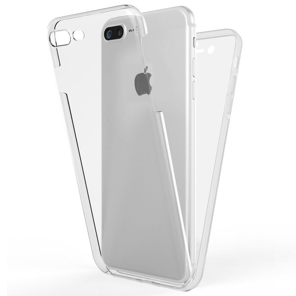 NALIA 360 Grad Handyhülle kompatibel mit Apple iPhone 8 Plus / 7 Plus, Full-Cover Silikon Bumper mit Displayschutz vorne Hardcase hinten, Hülle Doppel-Schutz Dünn Case Handy-Tasche – Bild 2