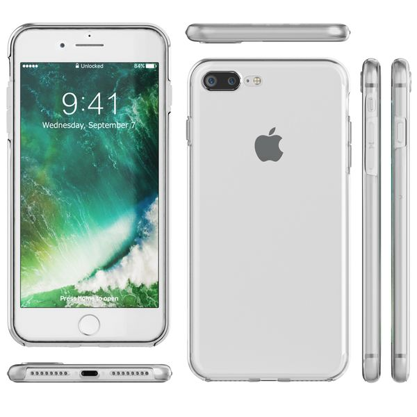 NALIA 360 Grad Handyhülle kompatibel mit Apple iPhone 8 Plus / 7 Plus, Full-Cover Silikon Bumper mit Displayschutz vorne Hardcase hinten, Hülle Doppel-Schutz Dünn Case Handy-Tasche – Bild 7