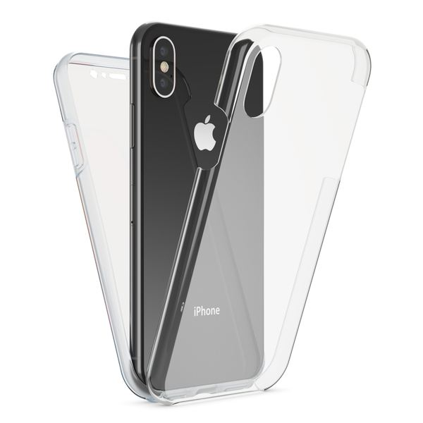 NALIA 360 Grad Handyhülle kompatibel mit Apple iPhone X XS, Full-Cover Silikon Bumper mit Displayschutz vorne Hardcase hinten, Hülle Doppel-Schutz Dünn Ganzkörper Case Handy-Tasche – Bild 2