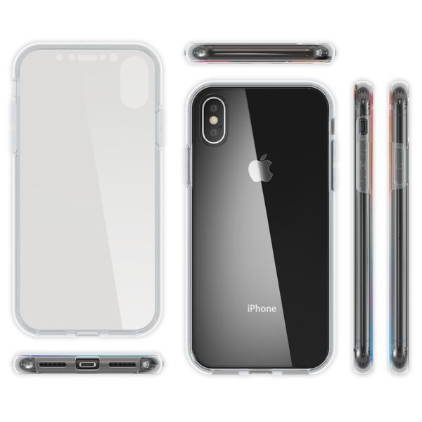 NALIA 360 Grad Handyhülle kompatibel mit Apple iPhone X XS, Full-Cover Silikon Bumper mit Displayschutz vorne Hardcase hinten, Hülle Doppel-Schutz Dünn Ganzkörper Case Handy-Tasche – Bild 8