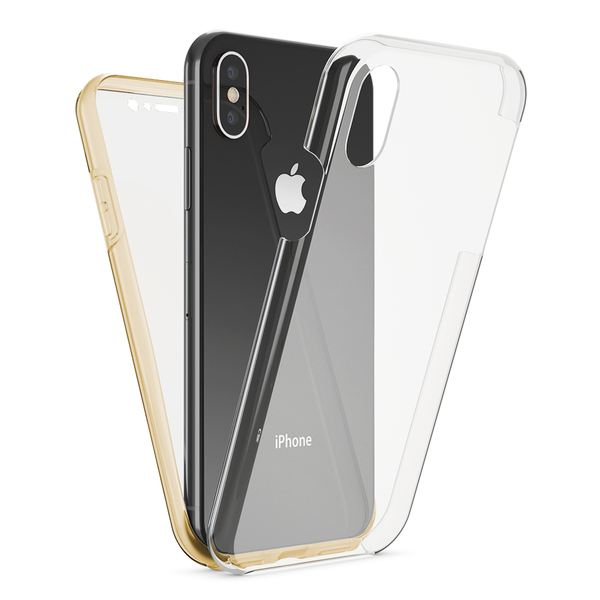 NALIA 360 Grad Handyhülle kompatibel mit Apple iPhone X XS, Full-Cover Silikon Bumper mit Displayschutz vorne Hardcase hinten, Hülle Doppel-Schutz Dünn Ganzkörper Case Handy-Tasche – Bild 16