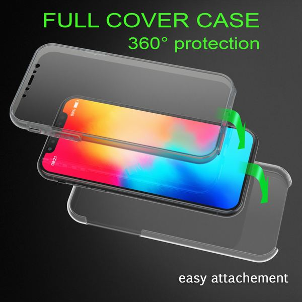 NALIA 360 Grad Handyhülle kompatibel mit Apple iPhone X XS, Full-Cover Silikon Bumper mit Displayschutz vorne Hardcase hinten, Hülle Doppel-Schutz Dünn Ganzkörper Case Handy-Tasche – Bild 13