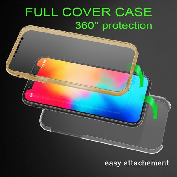 NALIA 360 Grad Handyhülle kompatibel mit Apple iPhone X XS, Full-Cover Silikon Bumper mit Displayschutz vorne Hardcase hinten, Hülle Doppel-Schutz Dünn Ganzkörper Case Handy-Tasche – Bild 20