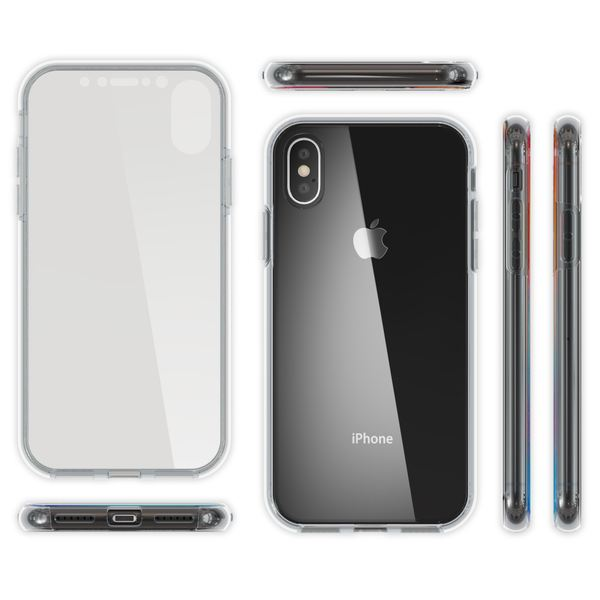 NALIA 360 Grad Handyhülle kompatibel mit Apple iPhone X XS, Full-Cover Silikon Bumper mit Displayschutz vorne Hardcase hinten, Hülle Doppel-Schutz Dünn Ganzkörper Case Handy-Tasche – Bild 15