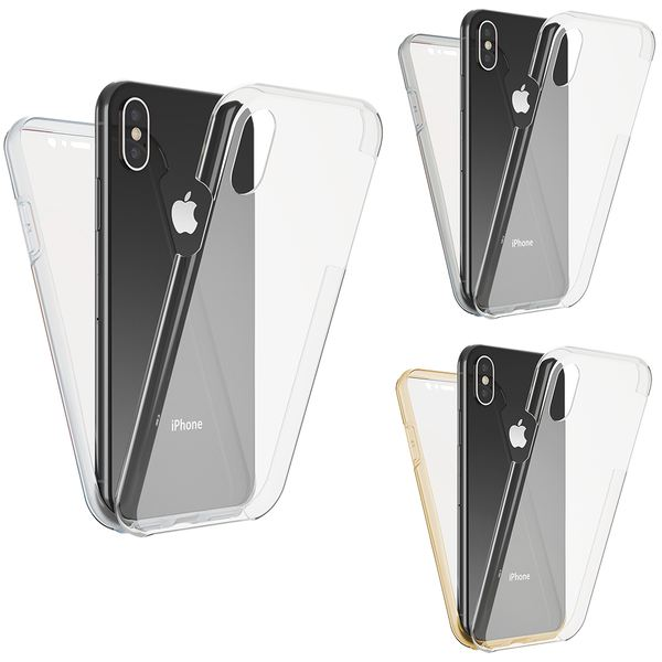 NALIA 360 Grad Handyhülle kompatibel mit Apple iPhone X XS, Full-Cover Silikon Bumper mit Displayschutz vorne Hardcase hinten, Hülle Doppel-Schutz Dünn Ganzkörper Case Handy-Tasche – Bild 1