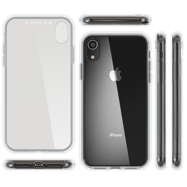 NALIA 360 Grad Handyhülle kompatibel mit Apple iPhone XR, Full-Cover Silikon Bumper mit Displayschutz vorne Hardcase hinten, Hülle Doppel-Schutz, Dünn Ganzkörper Case Handy-Tasche – Bild 13