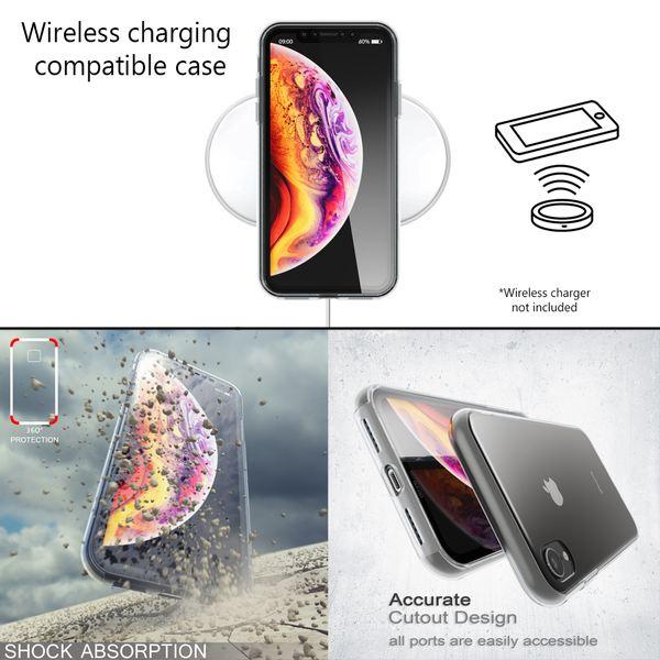 NALIA 360 Grad Handyhülle kompatibel mit Apple iPhone XR, Full-Cover Silikon Bumper mit Displayschutz vorne Hardcase hinten, Hülle Doppel-Schutz, Dünn Ganzkörper Case Handy-Tasche – Bild 6