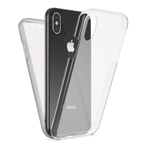 NALIA 360 Grad Handyhülle kompatibel mit Apple iPhone XS Max, Full-Cover Silikon Bumper mit Displayschutz vorne Hardcase hinten, Hülle Doppel-Schutz Dünn Ganzkörper Case – Bild 9