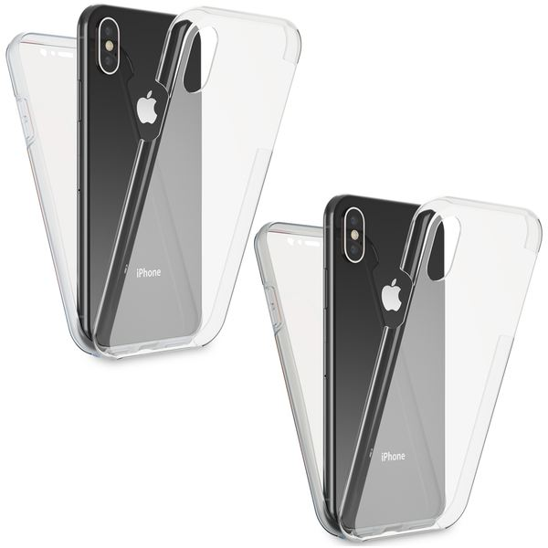 NALIA 360 Grad Handyhülle kompatibel mit Apple iPhone XS Max, Full-Cover Silikon Bumper mit Displayschutz vorne Hardcase hinten, Hülle Doppel-Schutz Dünn Ganzkörper Case – Bild 1