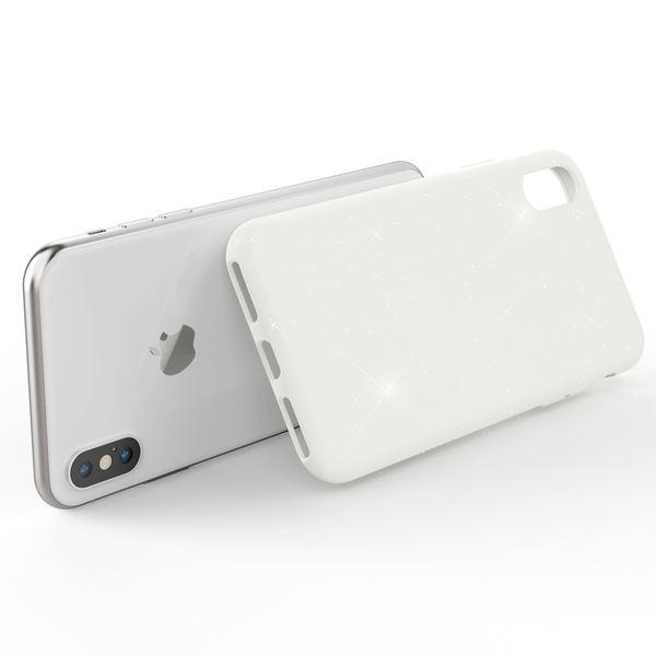NALIA Glitter Hülle kompatibel mit iPhone X / XS , Glitzer Handyhülle Slim Silikon Handy Case Back-Cover Schutz-Hülle, Sparkle Handy-Tasche Bumper, Dünnes Bling Strass Etui – Bild 9