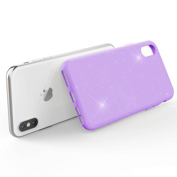 NALIA Glitter Hülle kompatibel mit iPhone X / XS , Glitzer Handyhülle Slim Silikon Handy Case Back-Cover Schutz-Hülle, Sparkle Handy-Tasche Bumper, Dünnes Bling Strass Etui – Bild 21