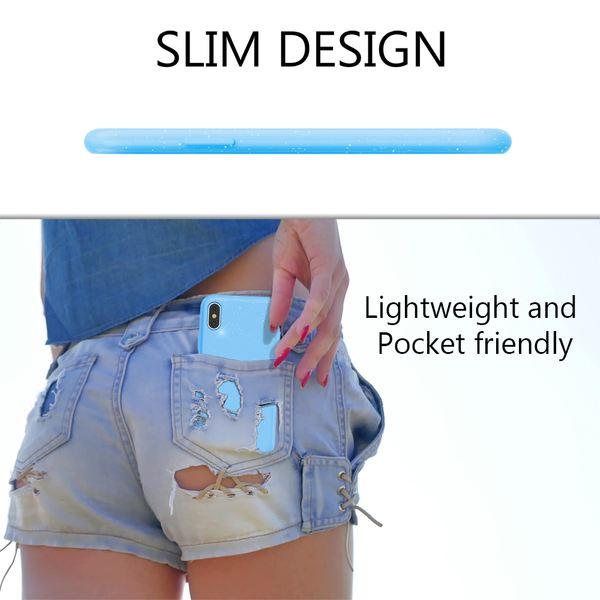 NALIA Glitter Hülle kompatibel mit iPhone X / XS , Glitzer Handyhülle Slim Silikon Handy Case Back-Cover Schutz-Hülle, Sparkle Handy-Tasche Bumper, Dünnes Bling Strass Etui – Bild 6
