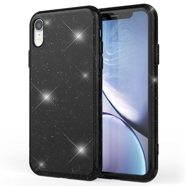 NALIA Glitzer Hülle kompatibel mit Apple iPhone XR, Schimmernde Ultra-Slim Silikon Handyhülle Cover Glitter Schutzhülle, Dünnes Case Etui Handy-Tasche Bumper Smart-Phone Skin Backcover – Bild 2