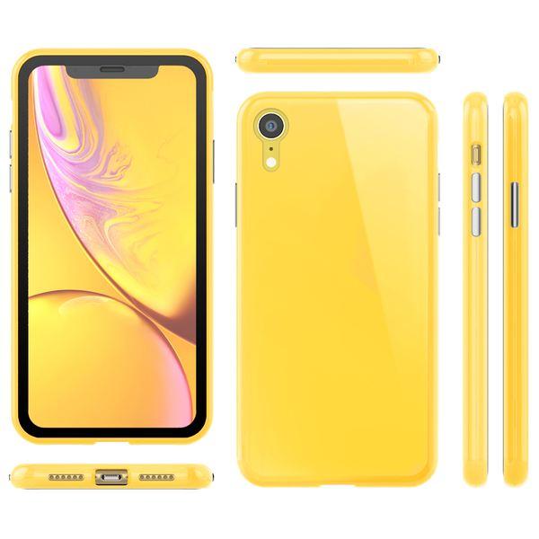 NALIA Magnetische 360° Glas Hülle kompatibel mit iPhone XR, Ultra-Slim Hard-Case Dünnes Hartglas Back-Cover mit Rahmen & Display-Schutz, Full-Body Schutzhülle Bumper Handy-Tasche Etui – Bild 8
