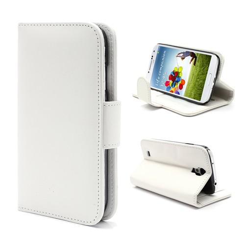 NALIA Klapphülle kompatibel mit Samsung Galaxy S4, Hülle Slim Flip-Case Kunst-Leder Vegan, Etui Schutzhülle Book-Case, Dünne Vorne Hinten Handy-Tasche Wallet Bumper - Weiß – Bild 1