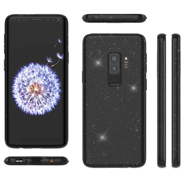 NALIA Glitzer Hülle kompatibel mit Samsung Galaxy S9 Plus, Schimmernde Ultra-Slim Silikon Handyhülle Cover Glitter Schutzhülle Dünnes Case Etui Handy-Tasche Bumper Phone Skin Backcover – Bild 8