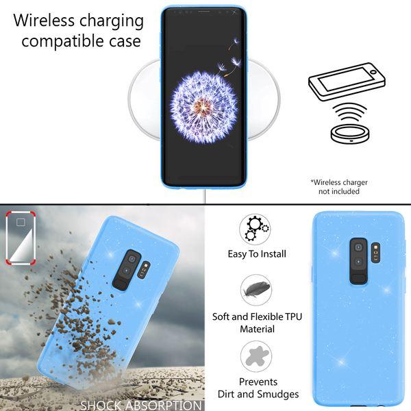 NALIA Glitzer Hülle kompatibel mit Samsung Galaxy S9 Plus, Schimmernde Ultra-Slim Silikon Handyhülle Cover Glitter Schutzhülle Dünnes Case Etui Handy-Tasche Bumper Phone Skin Backcover – Bild 13