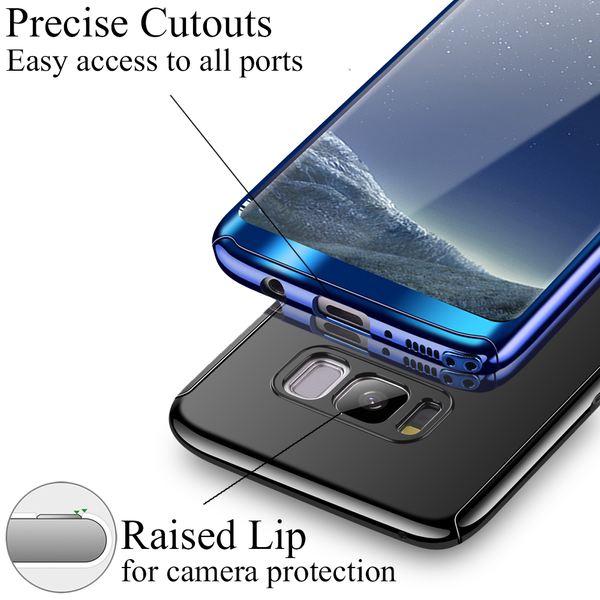 NALIA 360 Grad Handyhülle kompatibel mit Samsung Galaxy S8 Plus, Full-Cover & Schutzfolie vorne hinten Hülle Doppel-Schutz, Dünn Ganzkörper Case Handy-Tasche, Bumper & Displayschutz – Bild 22