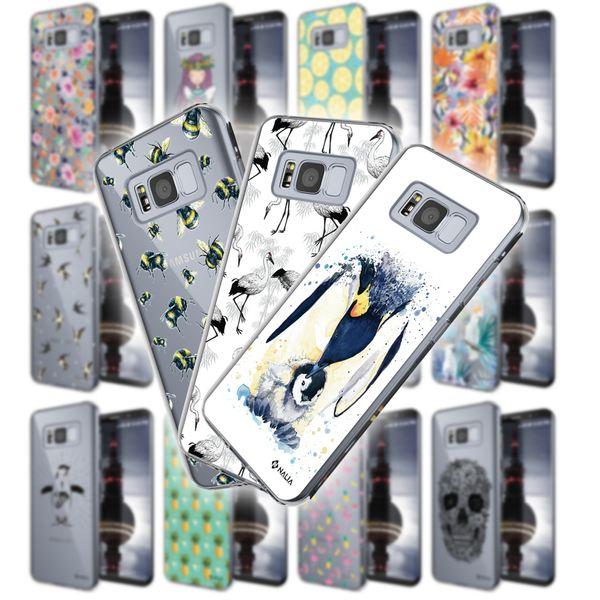 NALIA Handyhülle kompatibel mit Samsung Galaxy S8, Slim Silikon Hülle Motiv Case Cover Crystal Schutzhülle, Durchsichtig Etui Handy-Tasche Backcover Transparent Bumper – Bild 1
