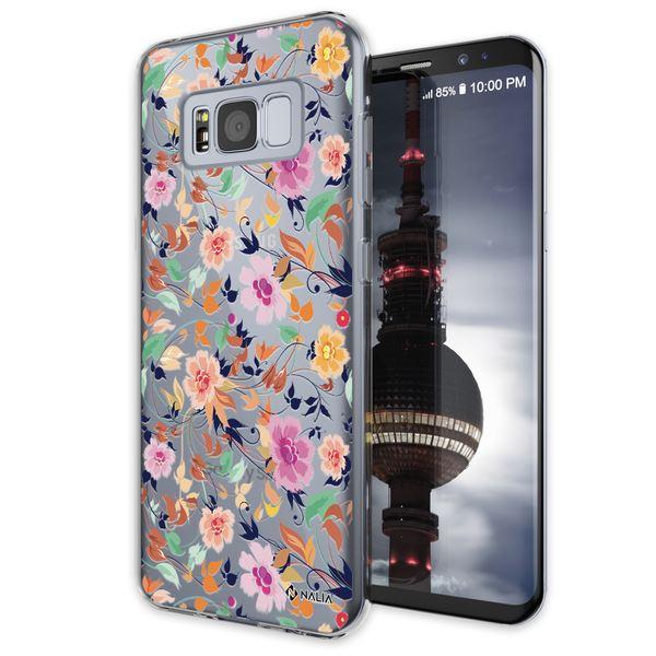 NALIA Handyhülle kompatibel mit Samsung Galaxy S8, Slim Silikon Hülle Motiv Case Cover Crystal Schutzhülle, Durchsichtig Etui Handy-Tasche Backcover Transparent Bumper – Bild 2