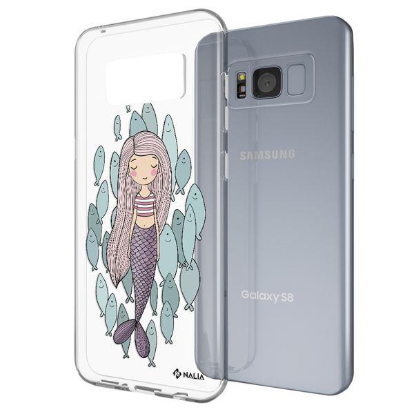 NALIA Handyhülle kompatibel mit Samsung Galaxy S8 Plus, Slim Silikon Hülle Motiv Case Cover Schutzhülle, Durchsichtig Etui Handy-Tasche Backcover Transparent Bumper – Bild 14