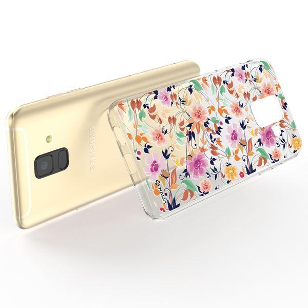 NALIA Handyhülle kompatibel mit Samsung Galaxy A6, Ultra-Slim Silikon Hülle Motiv Case Cover Schutzhülle, Dünn Etui Handy-Tasche Bumper Backcover Transparent Bumper – Bild 3