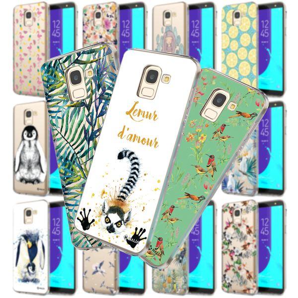 NALIA Handyhülle kompatibel mit Samsung Galaxy J6, Ultra-Slim Silikon Hülle Motiv Case Cover Schutzhülle, Dünn Etui Handy-Tasche Bumper Backcover Transparent Bumper – Bild 1