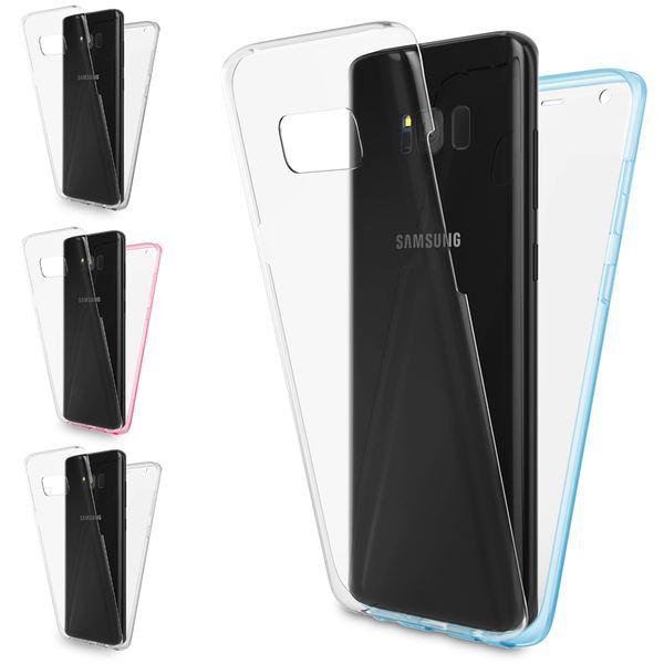 NALIA 360 Grad Handyhülle kompatibel mit Samsung Galaxy S8, Full-Cover Silikon Bumper mit Displayschutz vorne Hardcase hinten, Hülle Doppel-Schutz Dünn Ganzkörper Case Handy-Tasche – Bild 1