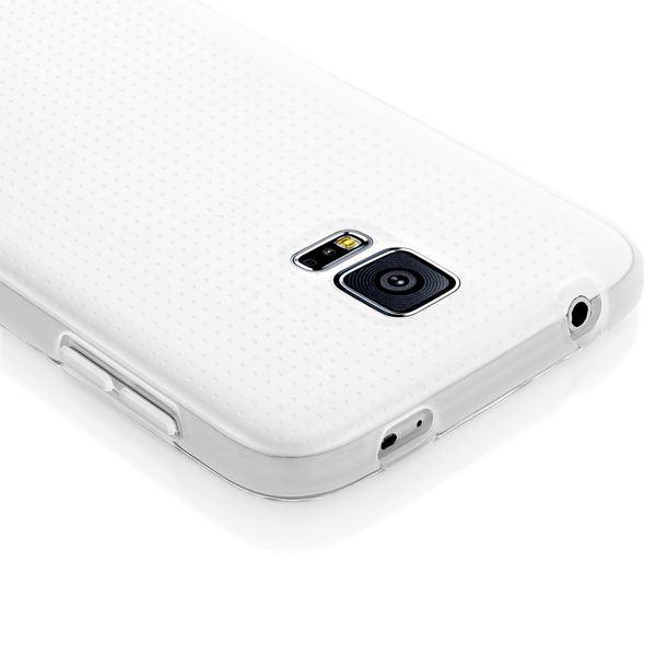 NALIA Handyhülle kompatibel mit Samsung Galaxy S5 S5 Neo, Hülle Ultra-Slim Silikon Case Dünn Crystal Schutzhülle, Etui Handy-Tasche Back-Cover Bumper, Smart-Phone Gummihülle - Transparent / Milchig – Bild 4