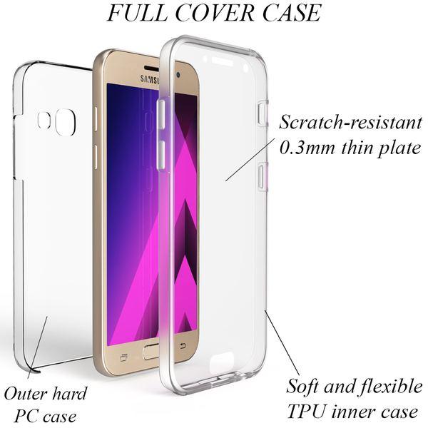 NALIA 360 Grad Handyhülle kompatibel mit Samsung Galaxy A5 2017, Full-Cover Silikon Bumper mit Displayschutz vorne Hardcase hinten, Hülle Doppel-Schutz Dünn Case Handy-Tasche – Bild 3