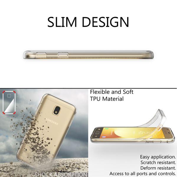 NALIA 360 Grad Handyhülle kompatibel mit Samsung Galaxy J3 2017, Full-Cover Silikon Bumper mit Displayschutz vorne Hardcase hinten, Hülle Doppel-Schutz Dünn Case Handy-Tasche – Bild 12