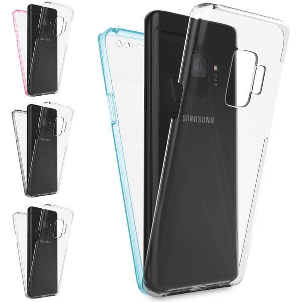 NALIA 360 Grad Handyhülle kompatibel mit Samsung Galaxy S9, Full-Cover Silikon Bumper mit Displayschutz vorne Hardcase hinten, Hülle Doppel-Schutz Dünn Ganzkörper Case Handy-Tasche – Bild 1