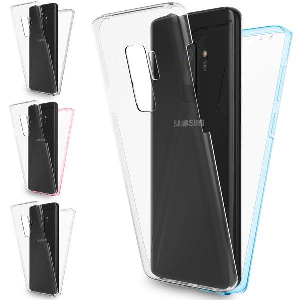 NALIA 360 Grad Hülle kompatibel mit Samsung Galaxy S9 Plus, Full-Cover Silikon Bumper mit Displayschutz vorne Hard-Case hinten, Rundum Handyhülle Doppel-Schutz, Dünne Handy-Tasche – Bild 1