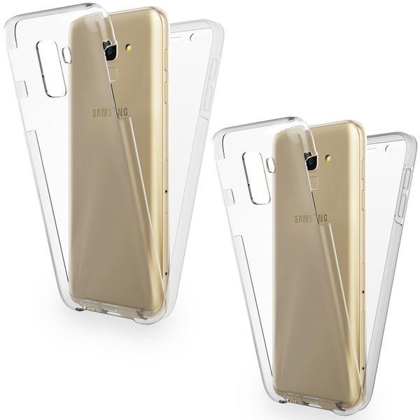 NALIA 360 Grad Handyhülle kompatibel mit Samsung Galaxy J6, Full-Cover Silikon Bumper mit Displayschutz vorne Hardcase hinten, Hülle Doppel-Schutz Dünn Ganzkörper Case Handy-Tasche – Bild 1