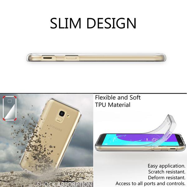 NALIA 360 Grad Handyhülle kompatibel mit Samsung Galaxy J6, Full-Cover Silikon Bumper mit Displayschutz vorne Hardcase hinten, Hülle Doppel-Schutz Dünn Ganzkörper Case Handy-Tasche – Bild 6