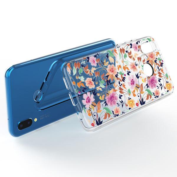 NALIA Handyhülle kompatibel mit Huawei P20 Lite, Slim Silikon Hülle Motiv Case Cover Crystal Schutzhülle, Durchsichtig Etui Handy-Tasche Backcover Transparent Bumper – Bild 3