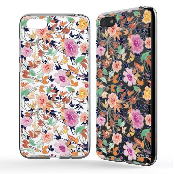 NALIA Handyhülle kompatibel mit Huawei Y5 (2018), Ultra-Slim Silikon Hülle Motiv Case Cover Crystal Schutzhülle, Durchsichtig Etui Handy-Tasche Backcover Transparent Bumper – Bild 2