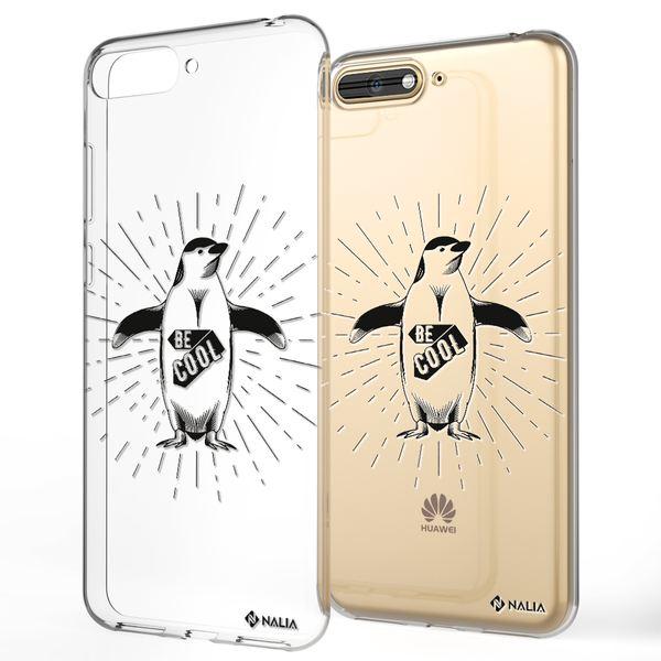 NALIA Handyhülle kompatibel mit Huawei Y6 (2018), Ultra-Slim Silikon Hülle Motiv Case Cover Crystal Schutzhülle, Durchsichtig Etui Handy-Tasche Backcover Transparent Bumper – Bild 10