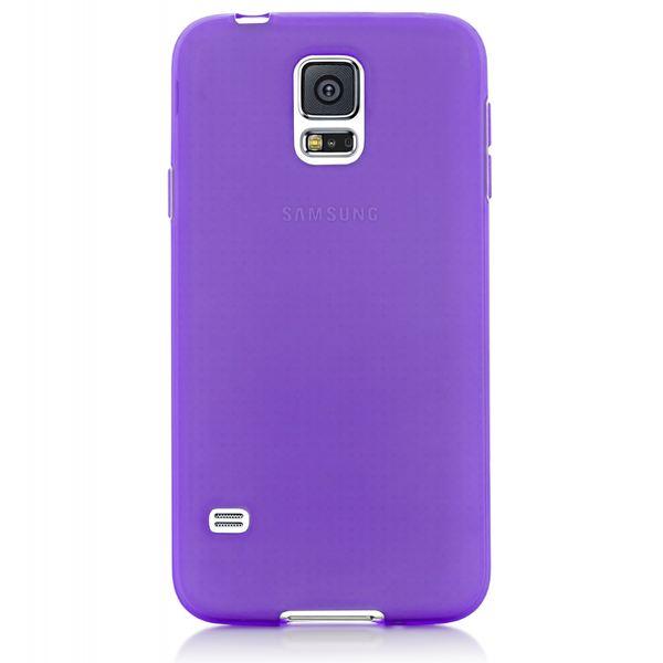 NALIA Handyhülle kompatibel mit Samsung Galaxy S5 S5 Neo, Hülle Ultra-Slim Silikon Case Dünn Crystal Schutzhülle, Etui Handy-Tasche Back-Cover Bumper, Thin Smart-Phone Gummihülle - Transparent / Lila – Bild 6